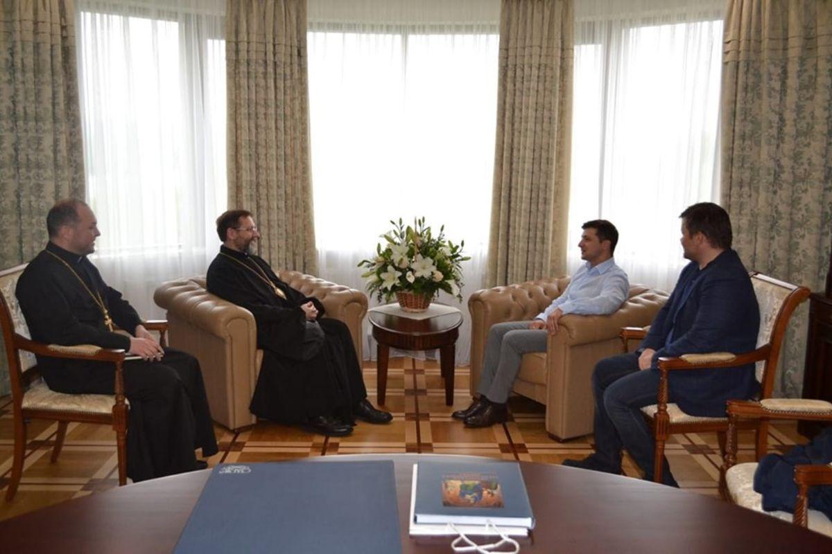 Глава УГКЦ зустрівся зновообраним Президентом України